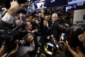Chinese e-commerce giant Alibaba begins trading on NYSE