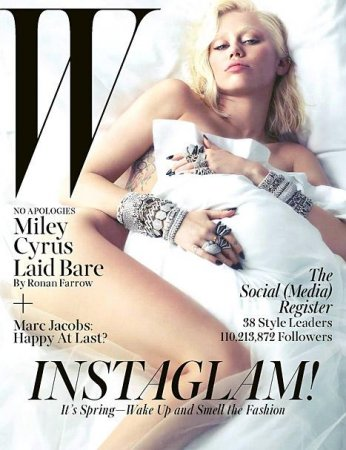 Miley Cyrus poses nude for W magazine