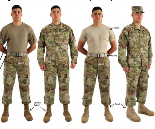 U.S. Army unveils new camouflage combat uniforms slated for release next month