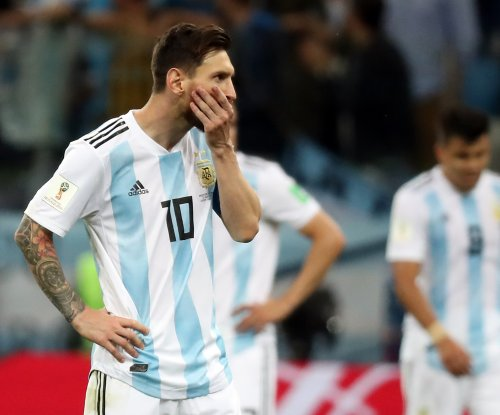 World Cup: Messi uses delicate touch on long ball for first goal