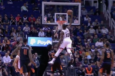 Heat's Bam Adebayo scrapes alley-oop off ceiling vs. Suns