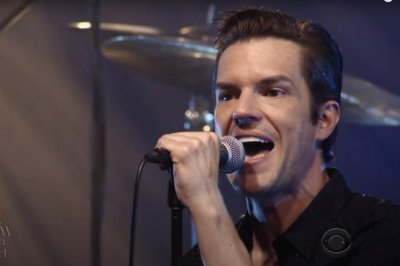 The Killers perform 'Blowback' on 'The Late Show'