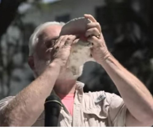 Man plays 'Tequila' on conch shell to win contest
