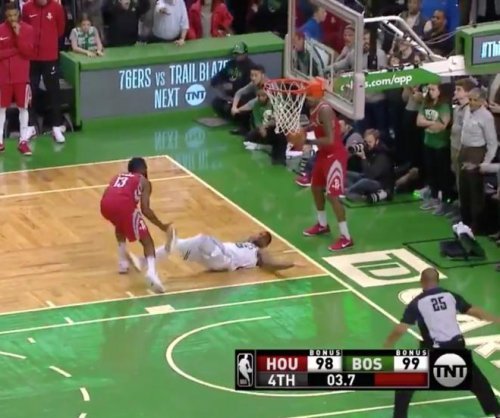 Houston Rockets' James Harden fouls in crunch time vs. Boston Celtics