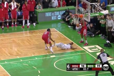 Houston Rockets' James Harden fouls in crunch time vs. Boston Celtics