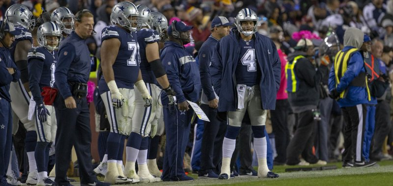 Is Cowboys  Jason Garrett starting to sour on QB Dak Prescott  - UPI.com 9ca62a802