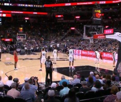 Spurs, Raptors honor Kobe Bryant with 24-second shot clock violations