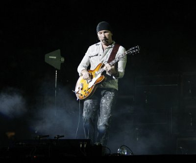 U2's The Edge performs at the Sistine Chapel
