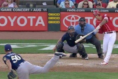 Reds pitcher Michael Lorenzen hits homer in third straight at-bat