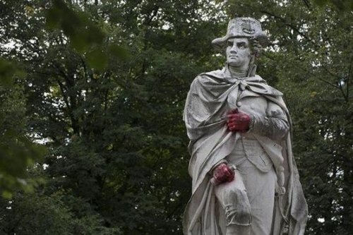 New Jersey police investigating after hands of George Washington statue painted red