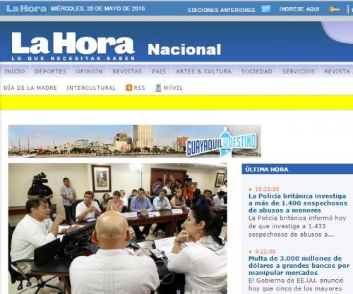 Ecuador fines media outlet for not covering mayoral act