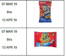 Maker recalls Ritz cracker products over salmonella contamination