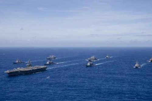 Ronald Reagan carrier strike group ports in Hong Kong amid China tensions