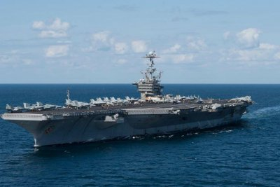 Aircraft carrier USS Truman docks for maintenance after seven months at sea