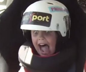Kazakhstan drift racer takes enthusiastic 5-year-old for a ride