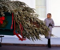 First lady Melania Trump accepts 2020 White House Christmas tree
