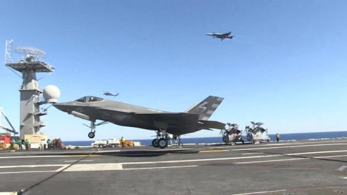 F-35 Lightning makes first-ever landing on aircraft carrier
