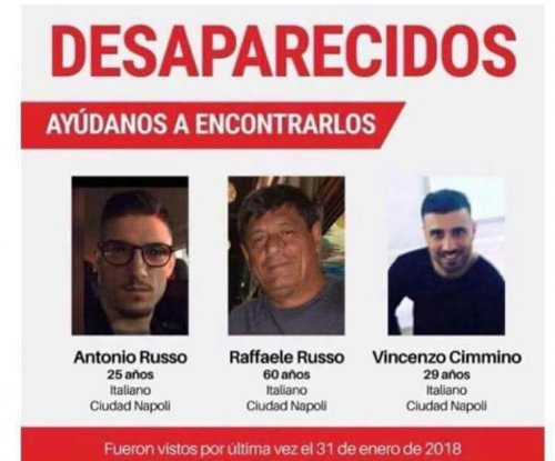 Mexico authorities searching for 3 missing Italian men