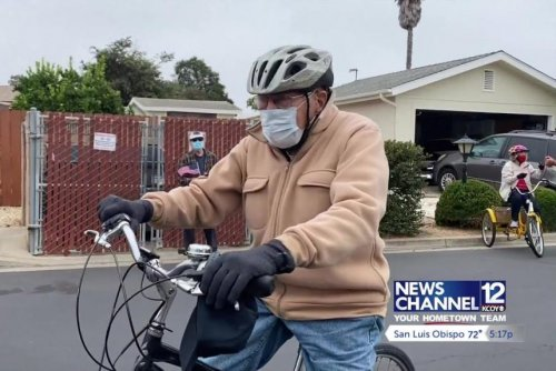 California's 95-year-old 'Bicycle Bob' rides his 100,000th mile