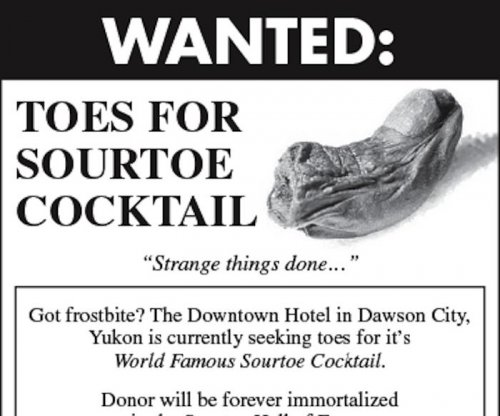 Thief steals toe used in Canadian hotel's signature cocktail