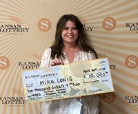 Kansas woman's tire shop appointment leads to lottery jackpot