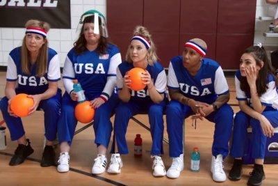 Michelle Obama, James Corden have star-studded dodgeball match