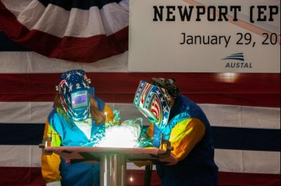 Keel authenticated for USNS Newport at Alabama shipyard