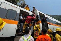 Truck driver among 7 charged in Taiwan train crash