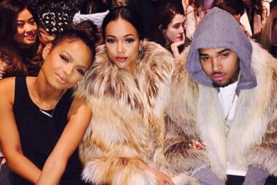 Chris Brown, Karrueche Tran anger with fur at NYFW