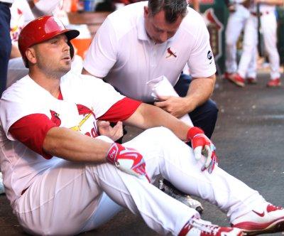 St. Louis Cardinals' Matt Holliday exits with leg injury