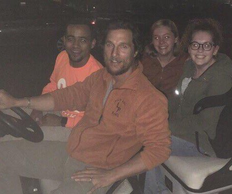 Matthew McConaughey surprises University of Texas safe rides users