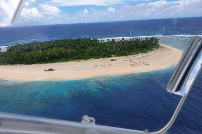 3 mariners rescued on Pacific island after writing 'SOS' in sand