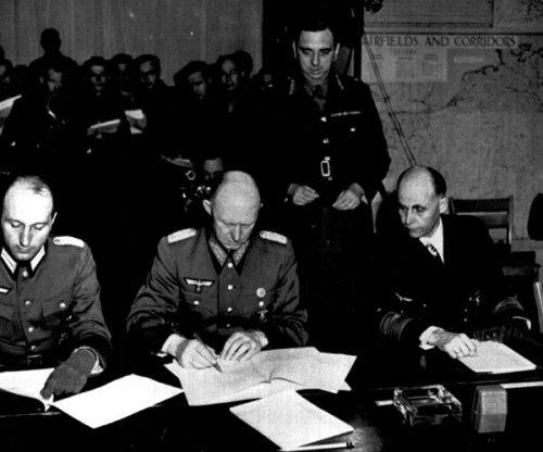 German surrender scene described