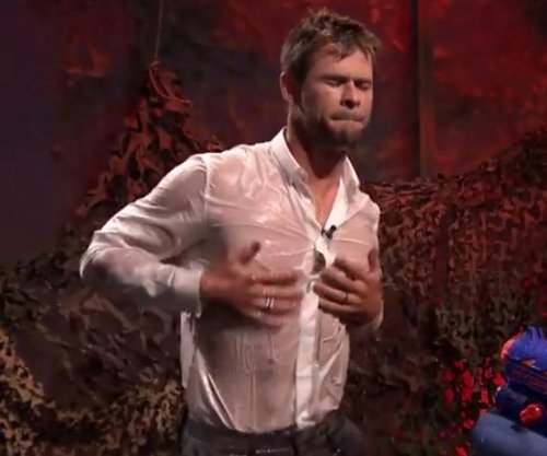 Watch Chris Hemsworth get wet on 'Fallon'