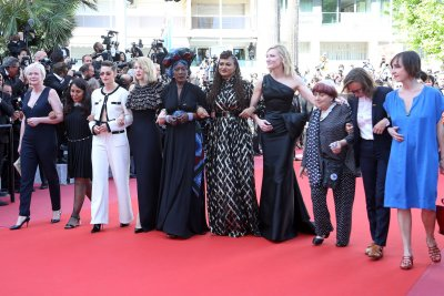 Cate Blanchett, Kristen Stewart lead march for women in Cannes