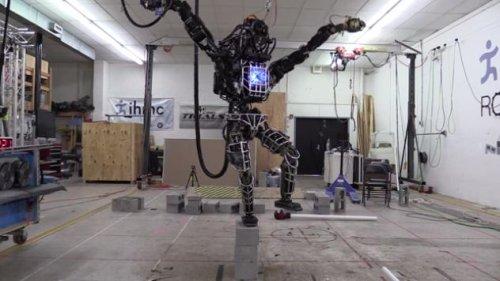 ATLAS walking robot does karate