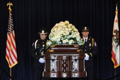 Nancy Reagan's body lies in repose at Ronald Reagan Presidential Library