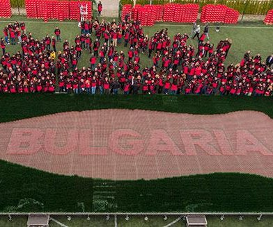 Coca-Cola Bulgaria builds mosaic out of 70,000 empty bottles