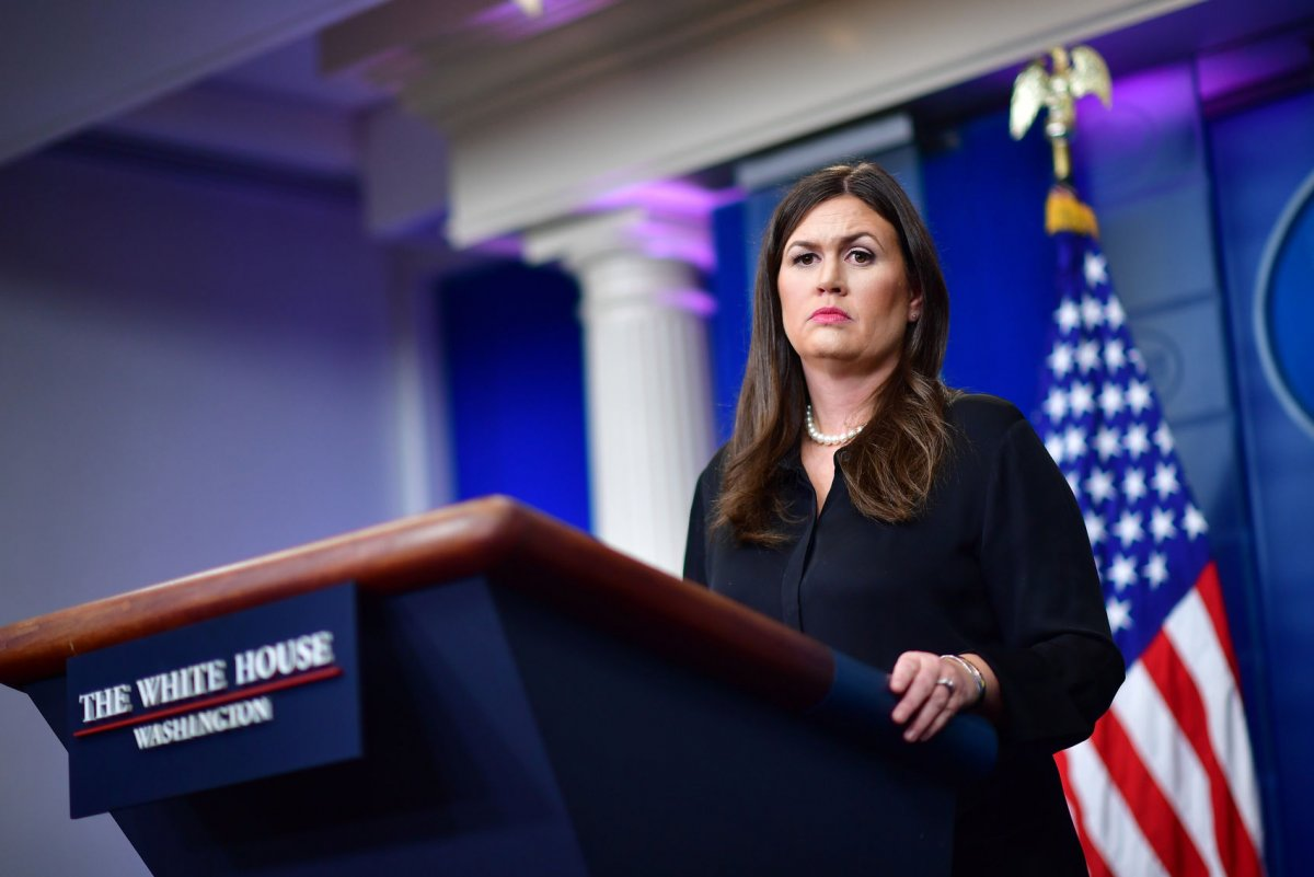 watch live: sarah huckabee sanders gives white house press