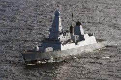Russia says warning shots fired at British ship; London says it didn't happen