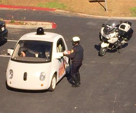 Self-driving Google car pulled over for driving too slowly in California
