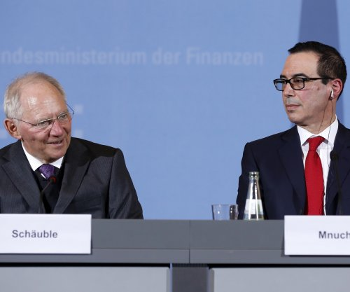 Mnuchin meets with Germans, promises no 'trade wars'