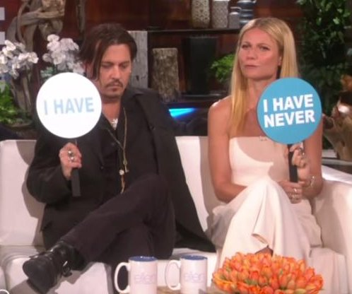 Johnny Depp, Gwyneth Paltrow play 'Never Have I Ever' on 'Ellen'