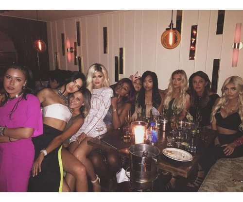 Kylie Jenner goes blonde for 18th birthday party