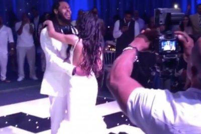 Richard Sherman slow dances to Ed Sheeran at wedding