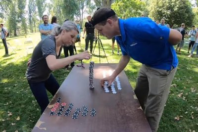 Idaho duo break two Guinness records for speed stacking casino chips