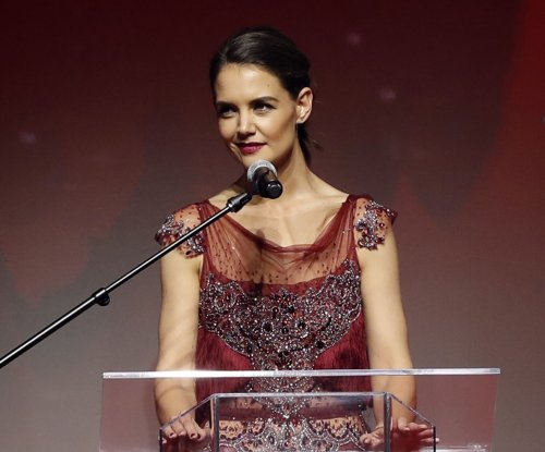 Katie Holmes hosts Red Dress fashion show in New York