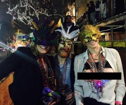 Chelsea Handler goes topless for Mardi Gras