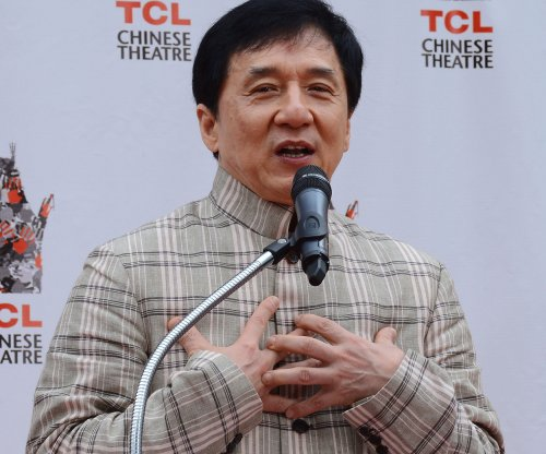 Activists in Taiwan deface statues donated by Jackie Chan