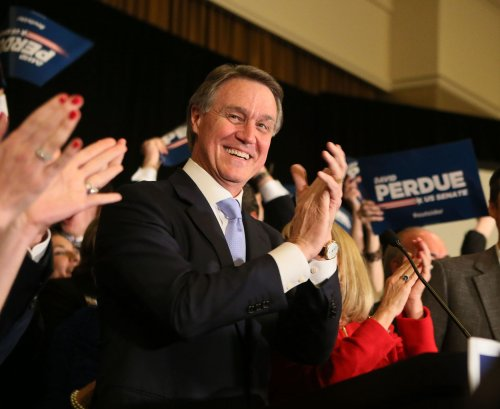 Republican David Perdue holds off Democrat Michelle Nunn in Ga. Senate race